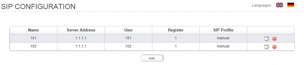 Configure the SIP accounts