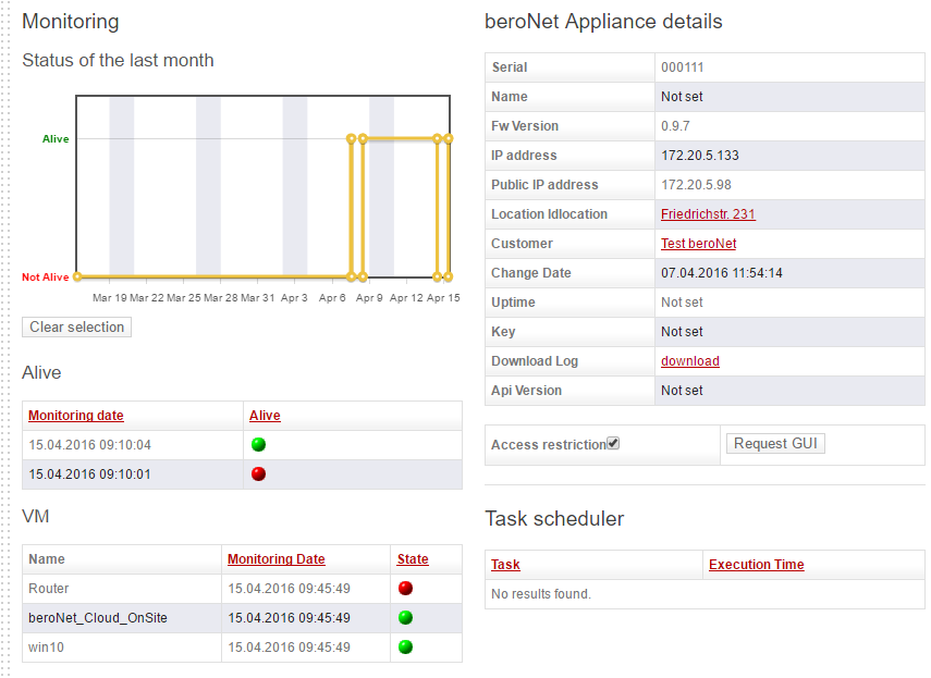 How to register your beroNet Appliance 2.0 in the Cloud