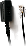 The RJ45 to TAE cable connects RJ45 (male) to TAE (female). It can be used with all beroNet VoIP Gateways with analog modules (especially for Germany.