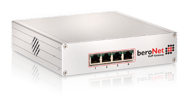 beroNet Modular VoIP Gateways hold up to two modules. Fully expandable, the devices can be custom built for any potential need.