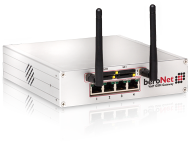 beroNet GSM VoIP Gateway includes 2 or 4 GSM Ports.