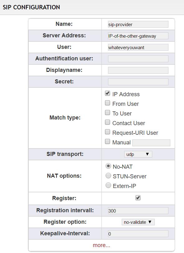 dans le cas d'un VPN, l'adresse sera l'adresse IP de la passerelle installée sur le site distant.